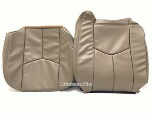 03 06avalanche Silverado Sierra Leather Passenger Seat Cover Medium Neutral Tan