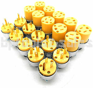 20 Male Female Extension Cord Replacement Electrical Plugs 15amp 125v End
