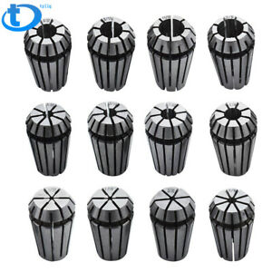 New 12pcs Er16 Spring Collet Set For Cnc Milling Lathe Tool Engraving Machine