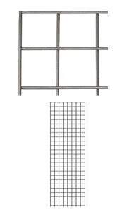 4 Pc New Retails Raw Steel Finish Wire Grid Wall Panel 2 X 6