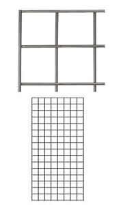 Count Of 4 New Retails Raw Steel Finish Wire Grid Panel 2 X 4