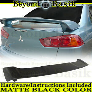 2008 2017 Mitsubishi Lancer Matte Black Factory Style Spoiler Rear Trunk Wing