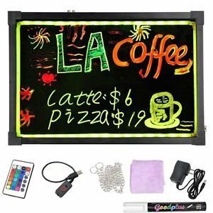 60 X 80 Led Writing Board Marquee Sign Digital Signage Free 8 Pack Of Markers