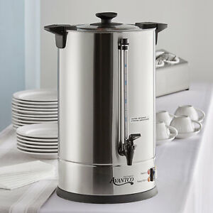 110 Cup 3 Gallon Stainless Steel Commercial Electric Coffee Urn 120 Volt