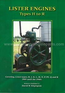 Lister Stationary Engines H To R Type Book By David Edgington Lister H J K