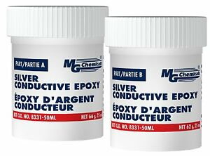 Mg Chemicals 8331 50ml 2 part Electrically Conductive Silver Epoxy Adhesive