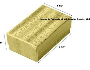 Wholesale 1000 Gold Cotton Fill Jewelry Packaging Gift Boxes 2 5 8 X 1 1 2 X 1