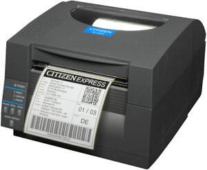 Citizen Cl s531 Barcode Printer With Ethernet Grey Power Cord Included