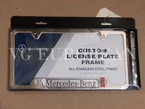 Mercedes benz Genuine Polished Stainless Steel License Plate Frame C E G S Ml Gl