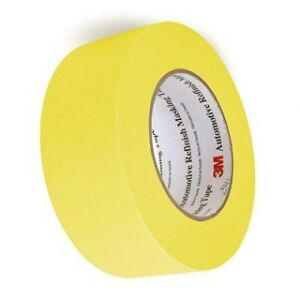 Case Of 24 Rolls 3m 06656 2 Yellow Automotive Masking Tape 48 Mm X 55 M