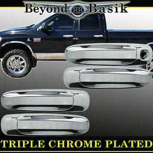 For 2003 2009 Dodge Ram 2500 3500 4500 Triple Chrome Door Handle Covers W O Psk