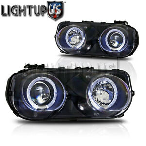 1994 1997 Acura Integra Dc2 Ls Gs R Halo Projector Black Clear Pair Headlights