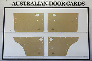Mazda 1200 1300 4 door Sedan 4 door Wagon Door Cards Blank Trim Panels