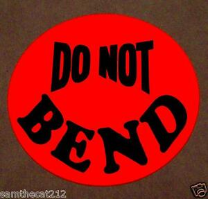 10000 Do Not Bend Label Sticker Big 1 1 2 1 5 Round Circle Free Shipping