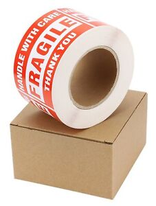 1 Roll 3x5 Large Fragile Stickers Handle With Care Labels 500 roll Easy Peeling