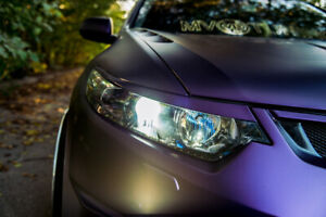 Front Eyelids Headlights Covers For Honda Accord 8 Acura Tsx Cu1 Cu2 Cw1 Cw2