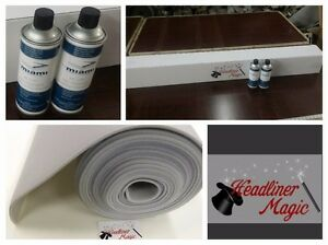 Lt Gray Headliner Kit In A Box With Qty 2 High Temp Adhesives Suvs