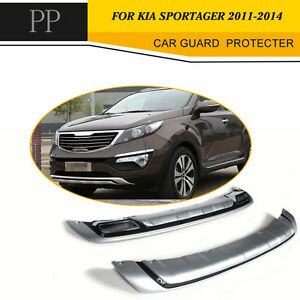 Front Rear Bumper Guard Protecter Cover Fit For Kia Sportage 2011 2014 Chrome Pp