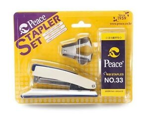 Korean Peace Stapler Staples 5000pcs no 33 Staple Remover Set Office Home