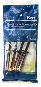 Kerr Original Revolution Formula 2 Flowable Light Cure Composite A1 A2 A3