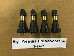 Set Of 4 High Pressure Brass Tire Valve Stems 1 1 4 Tr600hp Tr600 Usa Seller