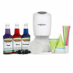 Hawaiian Shaved Ice And Snow Cone Machine Party Package New Free Shipping