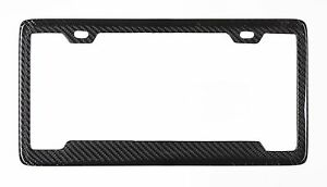 Real 100 Carbon Fiber License Plate Frame Tag Cover Original 3k Twill Jdm Ff D