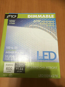 6x Led10dr427k 4 2700k Led Recessed Can Light Retrofit Kit Dimmable 10w Fixture