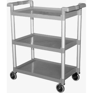 Plastic Utility Bus Cart 250 Lbs Load Medium