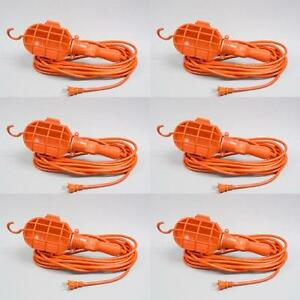Case Of 6 Switchless Incandescent Trouble Light 25 Ft Cord Nec 511 Tl 25pn