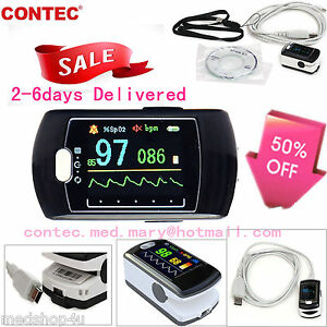 Daily Night Sleep Analysis Spo2 Pulse Oximeter Oled usb software contec Cms50e