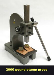 New Leather 2000 Pound Stamp Press And Steel Plate Tool For Tandy 3 d Craft