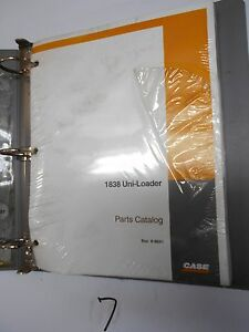 Case 1838 Uni loader Skid Steer Parts Catalog New Bur 8 9641