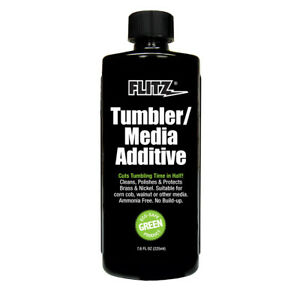 Flitz Green Walnut TumblerMedia Additive BrassNickel Cleaner Polish 7.6 Bottle $16.50