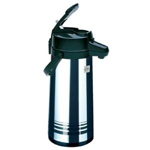 Airpot 84 Oz 2 5 Lt Decaf Coffee Stainless Steel Lined peacock Lever Pot