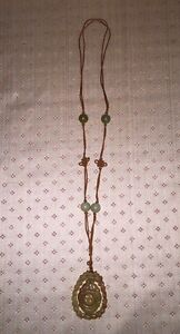 Antique Chinese Carved Hardstone Jade Jewlery Beads And Pendant Necklace