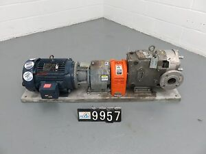 Waukesha 060u2 Positive Displacement Pump With Base And Motor pm9957 58