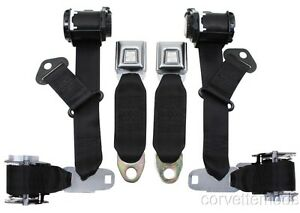 C3 Corvette 1974 1977 Economy Seat Belts Dual Retractors Pair