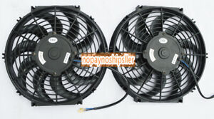 2pcs 10 Inch Universal 12v Pull push Car Radiator Engine Cooling Fan mounting