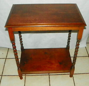 Quartersawn Oak Barley Twist End Table Entry Table T528