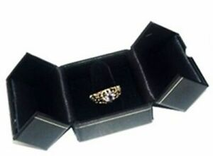 Wholesale Lot Of 48 Black Classic Ring Jewelry Display Presentation Gift Boxes