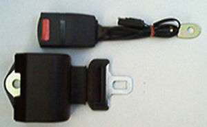 Retractable Seatbelt Black Lap Seat Belt With Micro Safety Switch black Webbing
