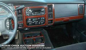 Dodge Ram 98 99 2000 01 Dash Trim Kit 1998 1999 2001 Polyurethane Coating