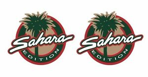 Pair 2 Sahara Edition Jeep Stickers 2 8 T By 3 5 W Wrangler Set Of 2 P54