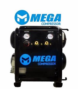 2 5 Hp 5 Gallon Twin Tank Air Compressor 135 Psi Handcarry Electric Single Stage