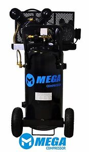 2 Hp Megapower Vertical Air Compressor 20 Gallon Single Stage Mp 2020ev