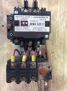 Cutler Hammer Starter A10dno Series B1 Size 2 60 8 Motor Protection Relay