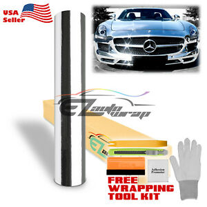 Premium Chrome Silver Vinyl Film Wrap Sticker Decal Air Release Bubble Free Diy