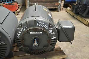 Lincoln 100 Hp 1785 Rpm 404tsc Odp 230 460v Electric Motor