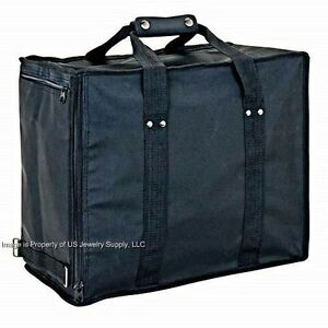 1 Premium Soft Side Travel Carrying Case With 12 Black 72 Ring Display Trays